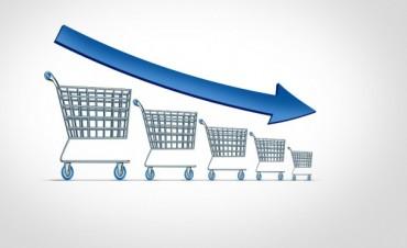 Las ventas minoristas cayeron dos y medio por ciento interanual durante enero