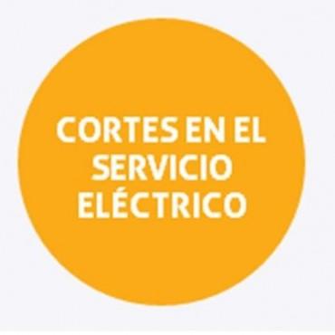 Cortes de energía programados para el jueves