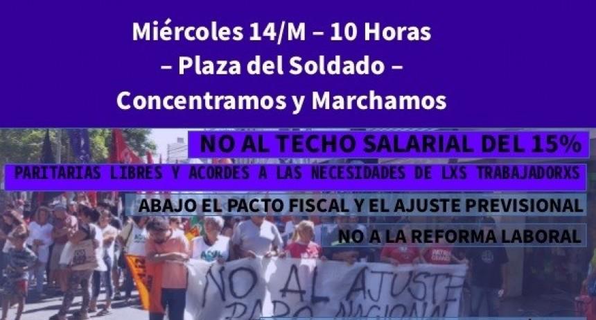 La Multisectorial contra el ajuste y la represión se moviliza mañana desde Plaza del Soldado