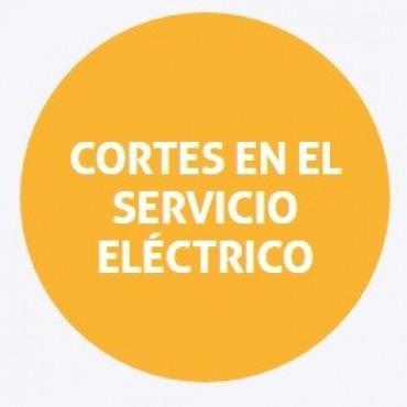 Cortes de energía programados para el sábado