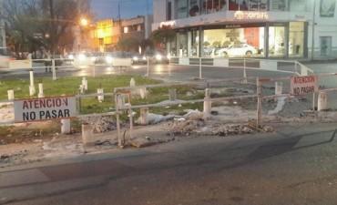 ASSA licitará las tareas finales para reparar el socavón de Urquiza y Boulevard