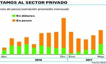 El crédito privado crece treinta y seis por ciento en mayo