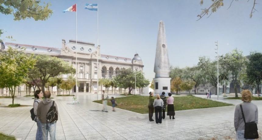La provincia instalará los nuevos mástiles en la Plaza 25 de Mayo