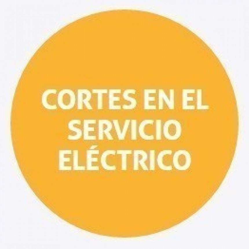 Cortes de energía programados para este jueves
