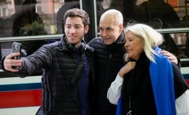 Macri, Carrió y Rodríguez Larreta lanzan la campaña de Vamos Juntos