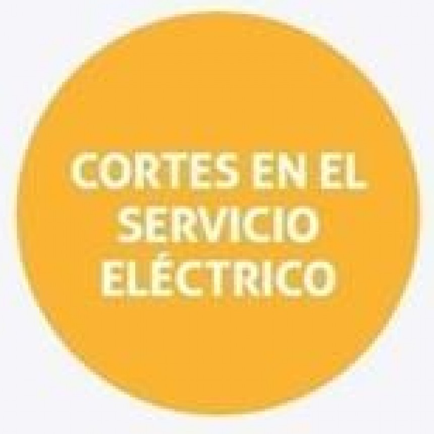 Cortes de energía programados para el martes
