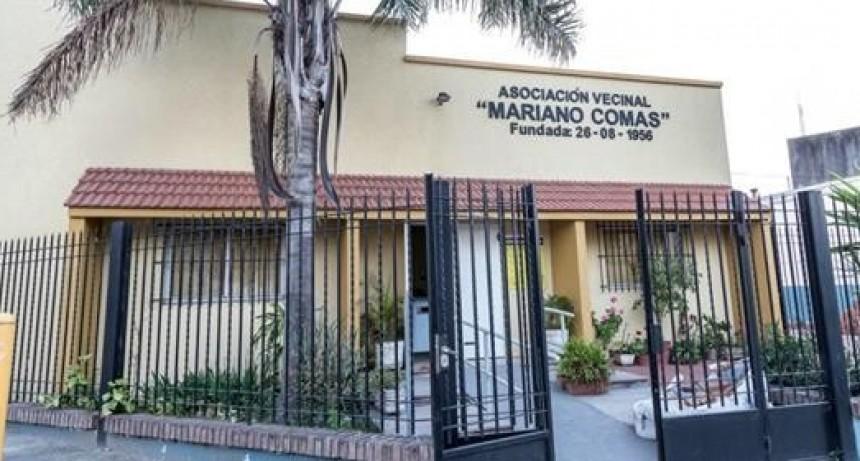 Mariano Comas instala alarmas comunitarias