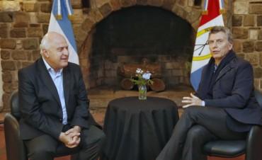 Mauricio Macri estuvo reunido con Miguel Lifschitz durante su visita