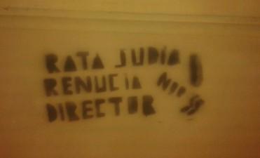 La DAIA filial Santa Fe repudio las pintadas antisemitas en la escuela Bustos