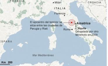 Más de una treintena de muertos ocasionó un fuerte sismo en el centro de Italia