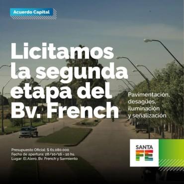 La Provincia licita la segunda etapa para la remodelación de Boulevard French