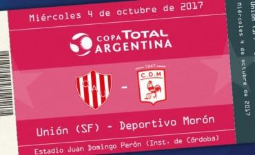 Mañana inicia la venta de entradas para el partido entre Unión y Morón