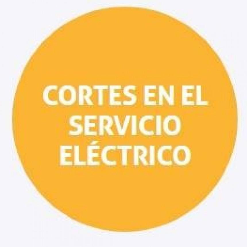 Cortes de energía programados para el martes en Santa Fe