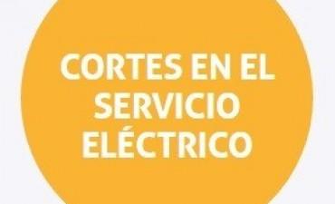 Cortes de energía programados para el jueves en Sauce Viejo y Rincón