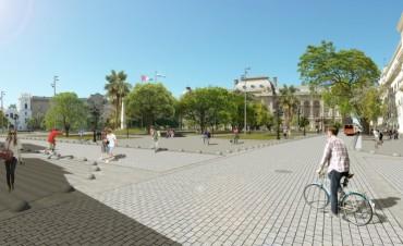 La remodelación de la Plaza 25 de Mayo tiene un avance de obra superior al 50 por ciento