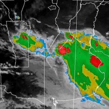 Alerta meteorológica para el sur de la provincia por lluvias y tormentas intensas