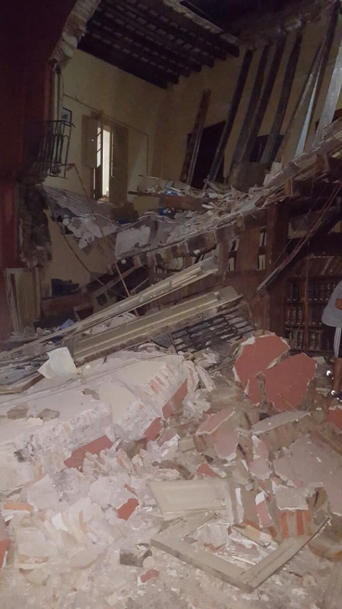 El Municipio desalojó la casa del Brigadier López tras un derrumbe