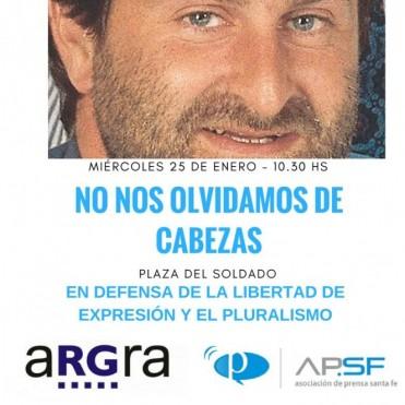 Acto a veinte años del asesinato de José Luis Cabezas