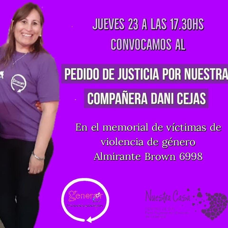 Generar convoca a una marcha por la muerte de Daniela Cejas