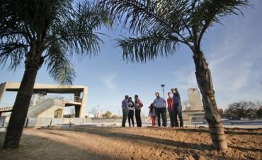 La obra de la Plaza Alberdi terminaría a fines de mes