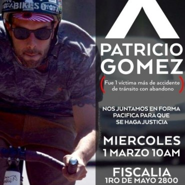 Amigos de Patricio Gómez convocan a manifestarse frente a la fiscalía