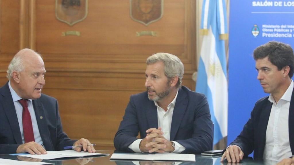 El gobernador habló con el ministro del Interior sobre la deuda por coparticipación