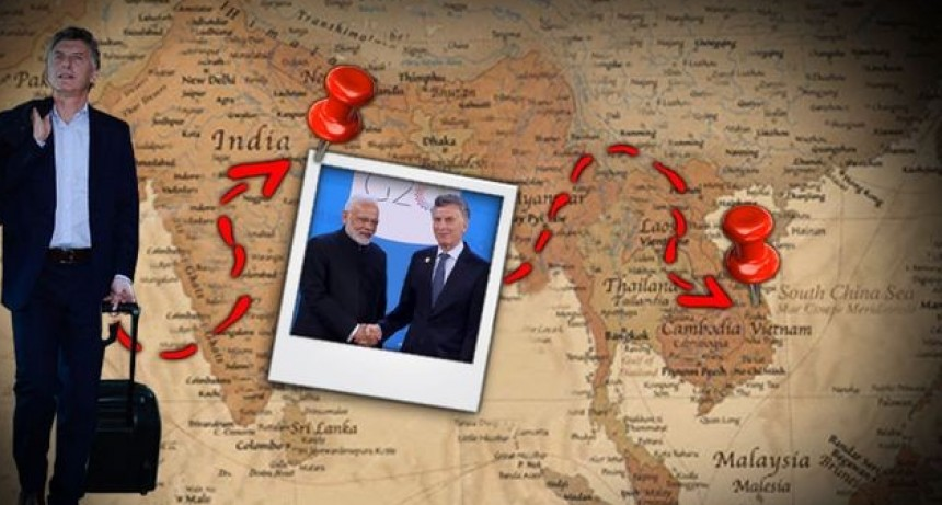 Mauricio Macri inicia gira comercial por India y Vietnam