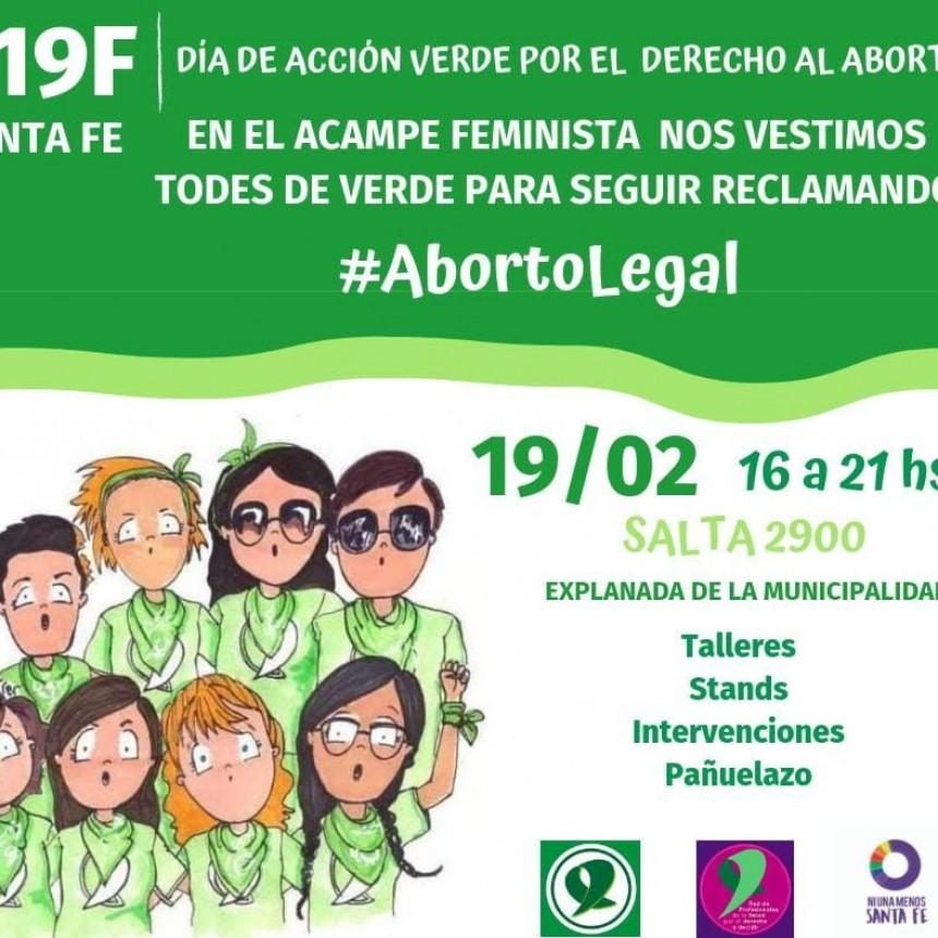 El Día de Acción Verde por el Derecho al Aborto se desarrolla este martes