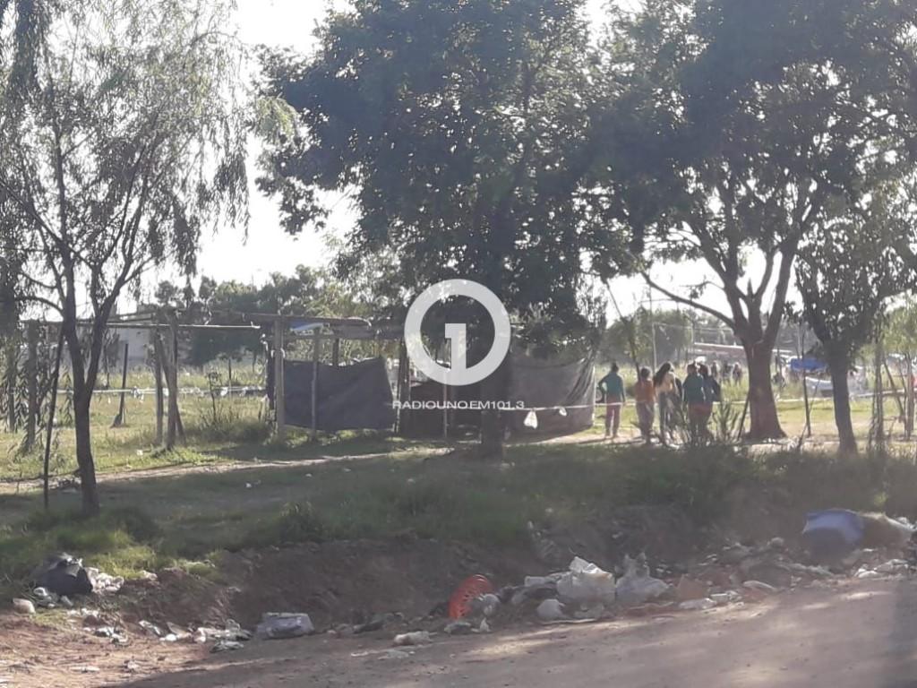 Intervención en los terrenos usurpados en el norte de la ciudad