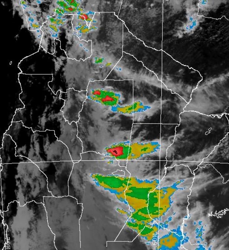 Alerta meteorológica por lluvias y tormentas intensas para centro y sur de Santa Fe