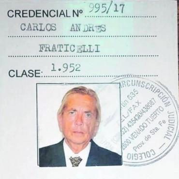 El ex juez Carlos Fraticelli ejercerá como abogado