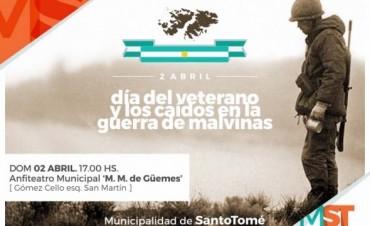 Conmemoración del 2 de abril en Santo Tomé