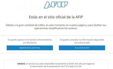 AFIP prorrogó hasta el 21 de abril las deducciones de Ganancias