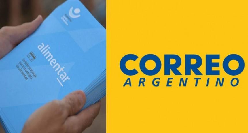 Las Tarjetas Alimentar llegarán a sus beneficiarios a través de Correo Argentino