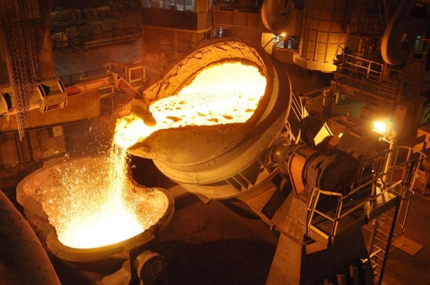 La producción siderúrgica creció veintitrés y medio por ciento interanual durante marzo