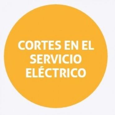 Cortes de energía programados para el viernes