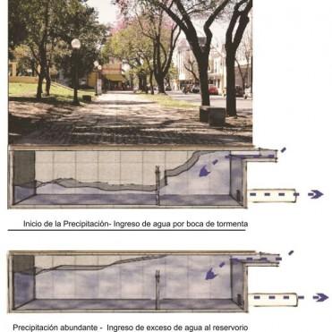 Concejales presentan un proyecto para construir retardadores pluviales en la Plaza Constituyentes