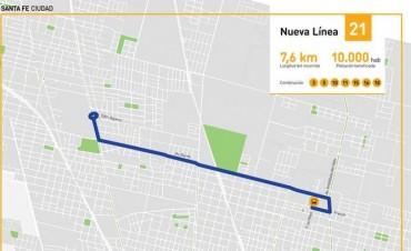 La línea 21 comenzará funcionar en los primeros días de mayo