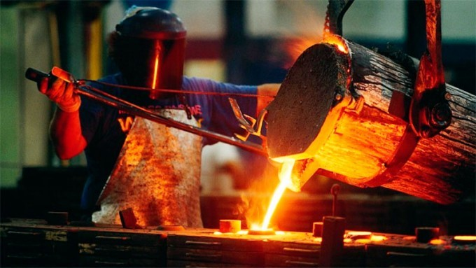 La producción fabril subió ocho y medio por ciento en febrero
