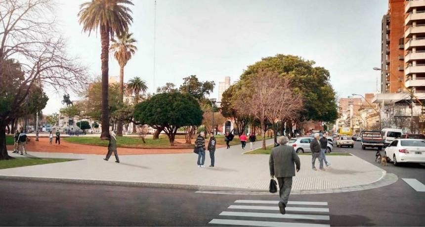 La licitación de la puesta en valor de Plaza San Martín se realizará el 11 de abril