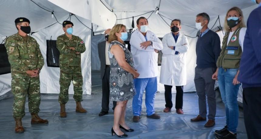 El hospital de campaña frente al Cullen empieza a funcionar desde la semana próxima