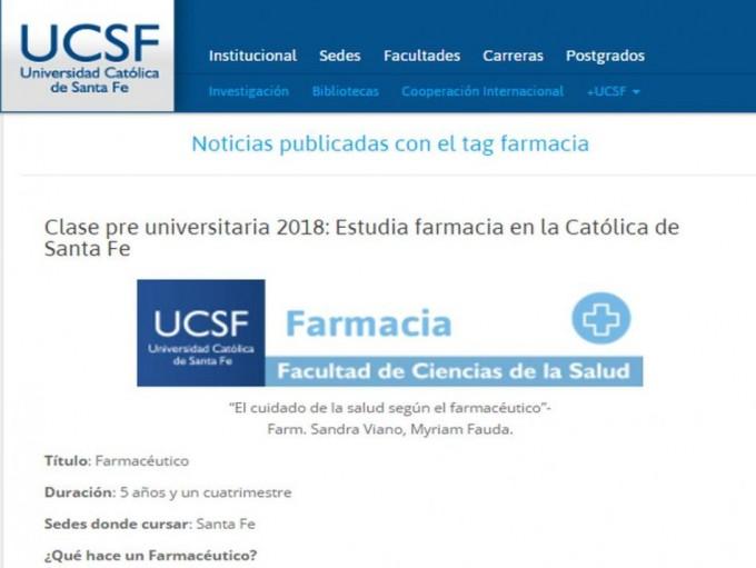La CONEAU aprobó el dictado de la carrera de farmacia en Santa Fe