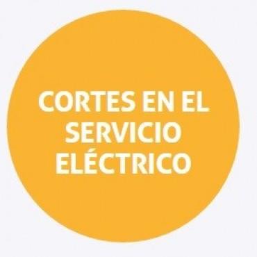 Cortes de energía programados para el miércoles