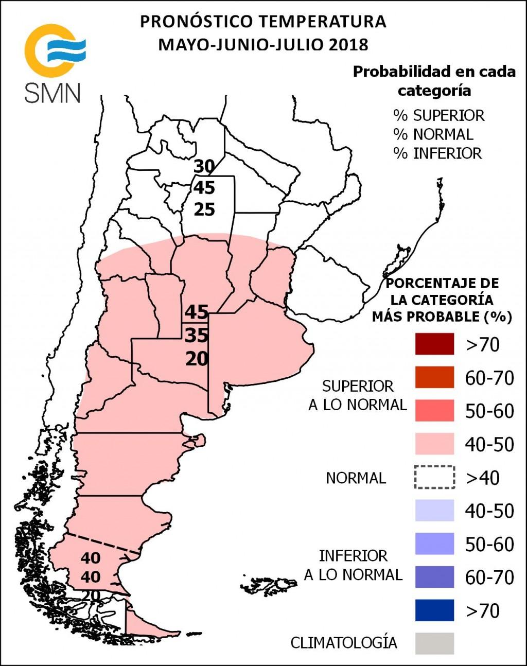 Se esperaban temperaturas más elevadas para el invierno