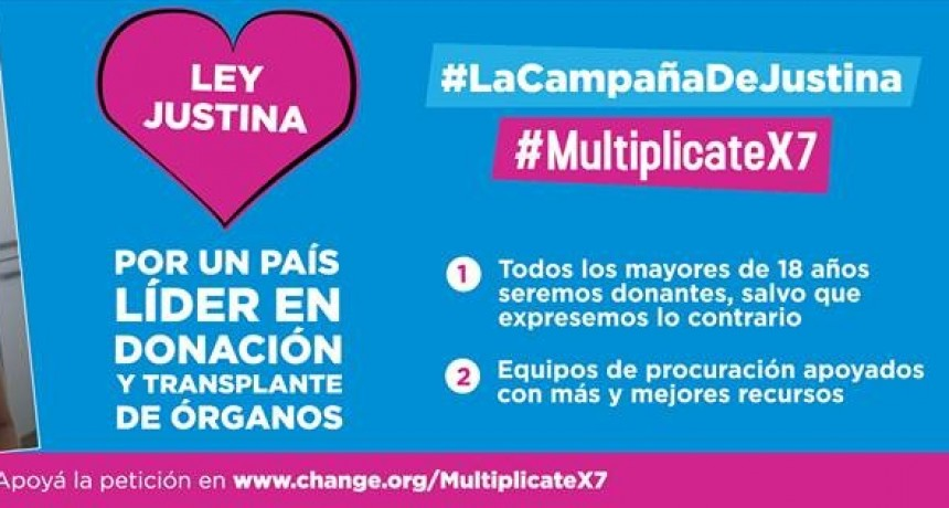 Organizaciones pedirán por la ley Justina en el Día de la Donación de Órganos