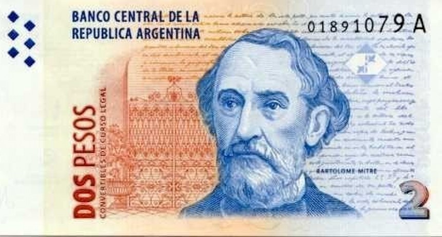 El jueves finaliza el plazo para canjear billetes de 2 pesos