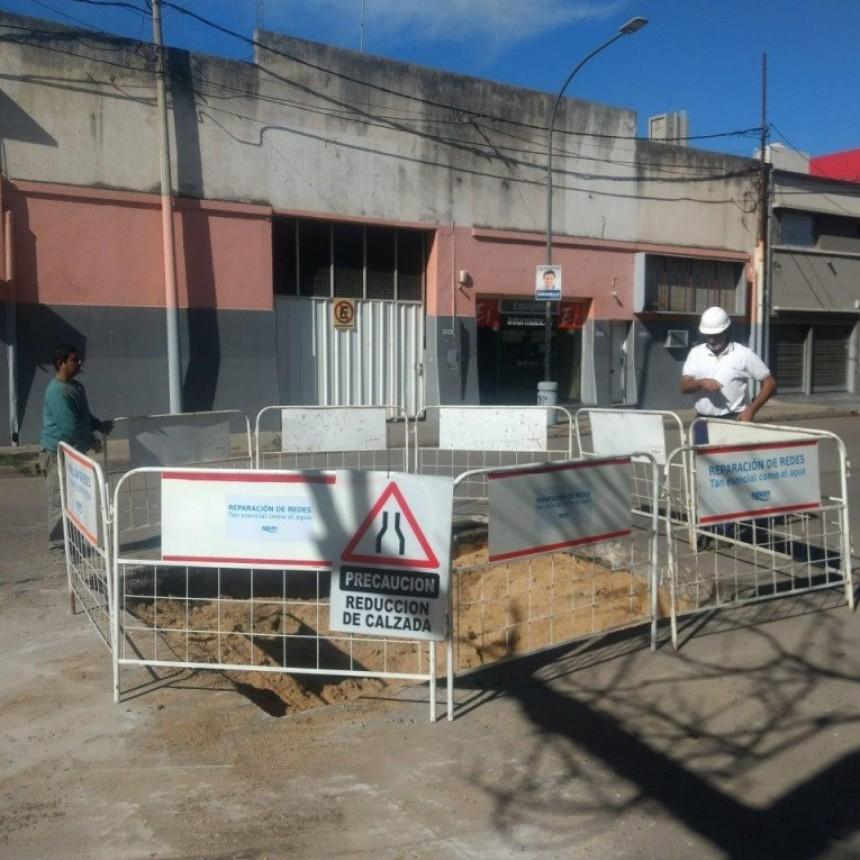 El hundimiento de Urquiza al 3500 estaría reparado en 25 días