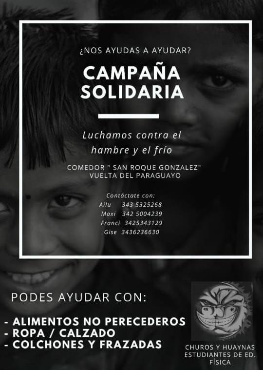 Campaña solidaria para el comedor de la Vuelta del Paraguayo