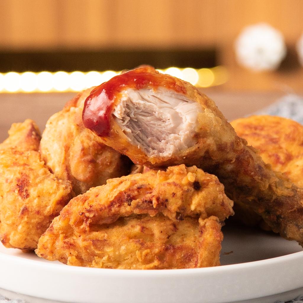 Aprendimos a cocinar: Pollo Frito y salsa barbacoa casera