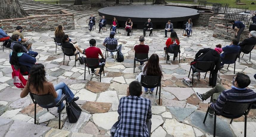 Referentes de barrios populares tuvieron un encuentro con el presidente Alberto Fernández